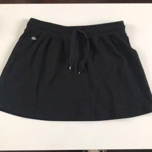 Lacoste black drawstring mini skirt sz 38